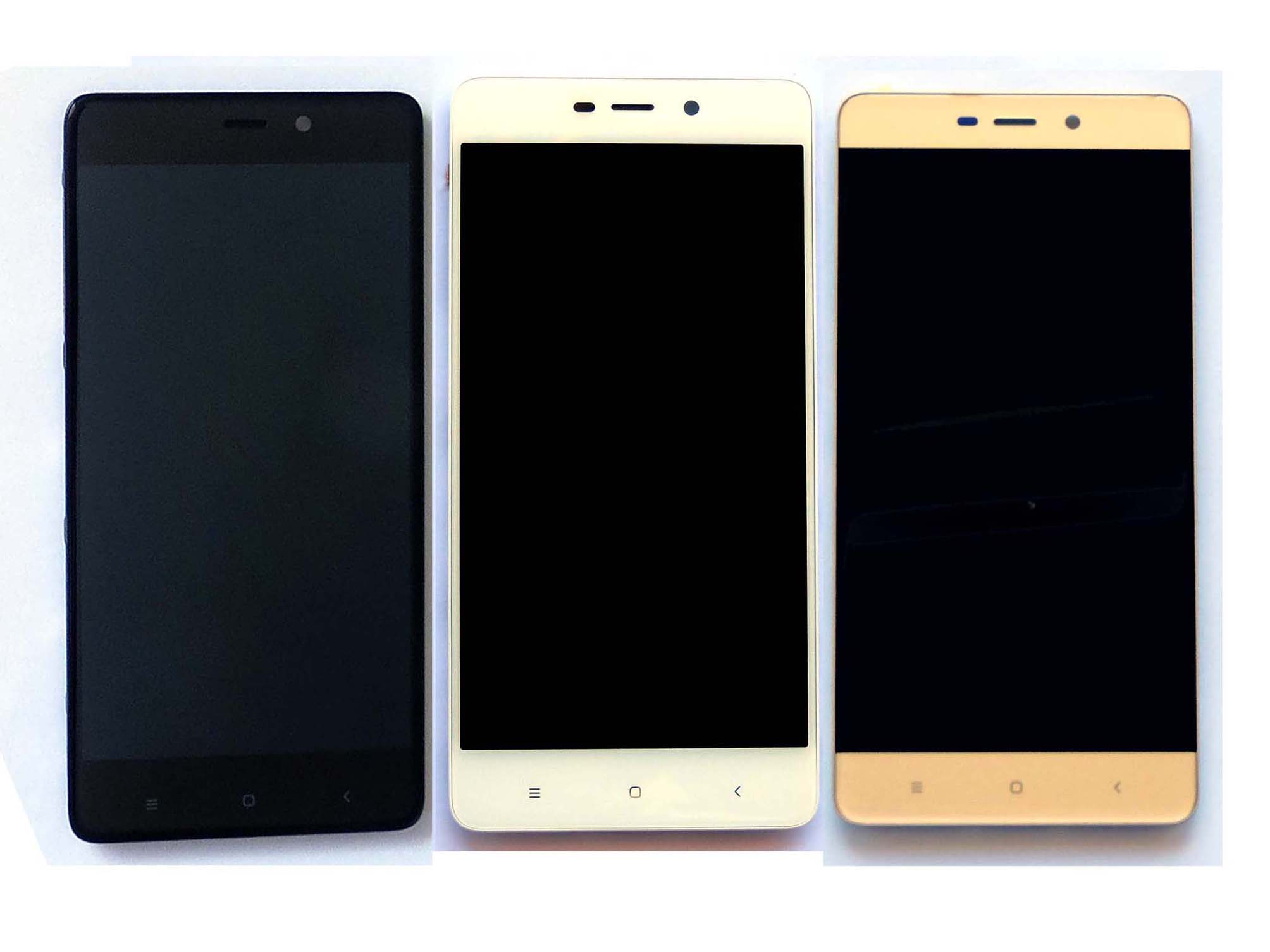 Original Complete screen with front housing for Redmi 4 pro – Black & White & Gold