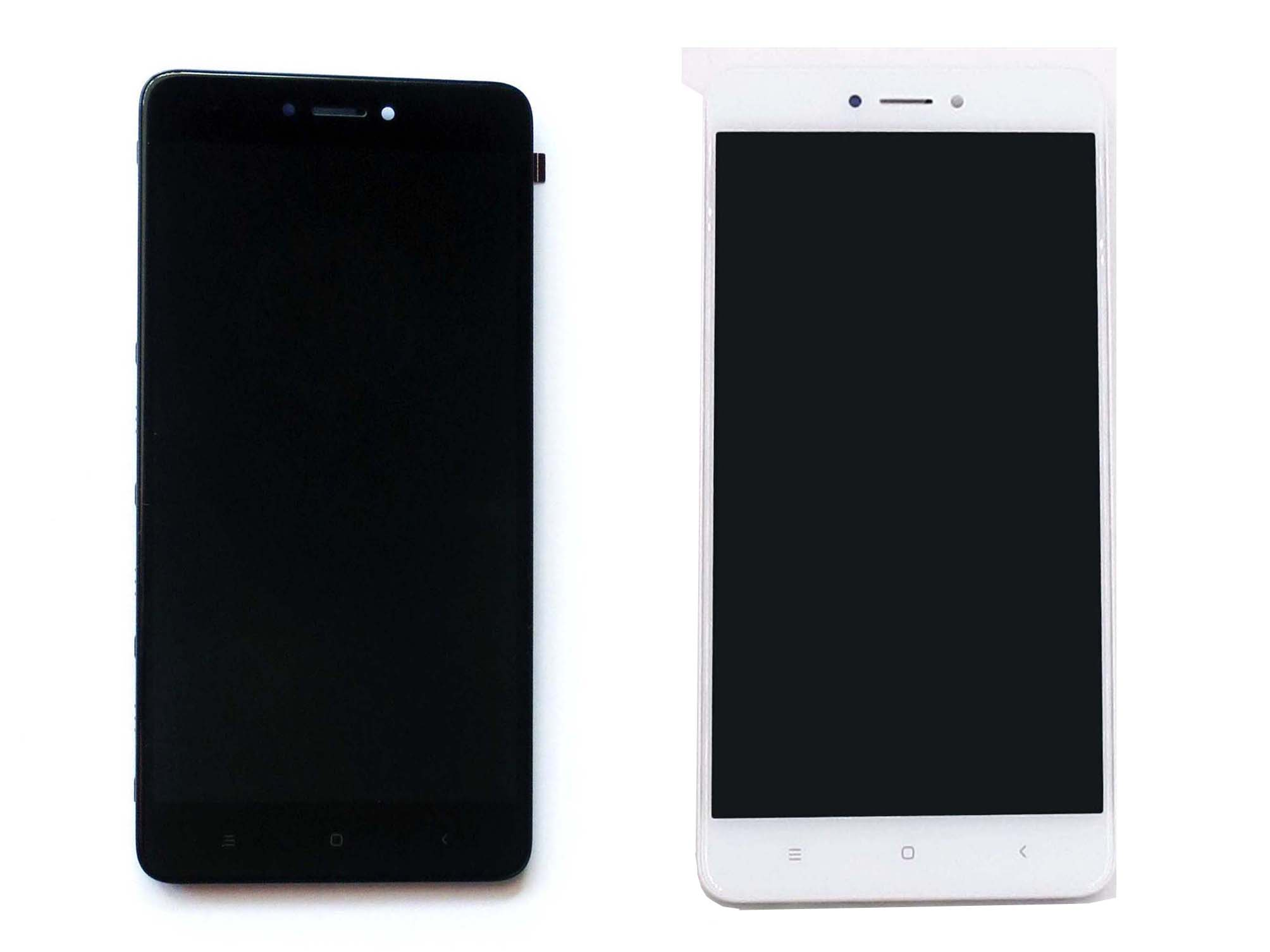 Original Complete screen with front housing for sanpdragon version Redmi note 4x –Black & White